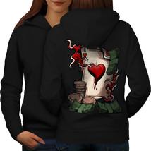 Ace Bet Card Board Casino Sweatshirt Hoody Card Game Women Hoodie Back - $21.99+