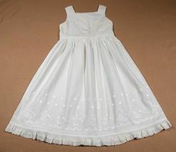 COPPER KEY GIRLS SIZE 5 WHITE BEACH PORTRAIT DRESS 100%  COTTON - $19.79