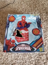 Outdoor Christmas Decoration Inflatable Spiderman Chimney Decor Products... - $58.10