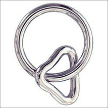 """U-1 X 1-1/4"""" Hilason Western Horse Tack Nickel Plated Wire Loop & Ring U--220 - $6.88+"""