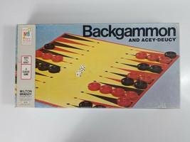 Backgammon Acey Deucy Board Game 1973 Milton Bradley - $6.79