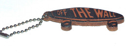 Leather Off The Wall Skate Board Key Chain Ring Fob - $9.18