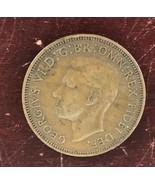 Georgivs VI D:G:BR : OMN : REX  F:D: IND:IMP 1952 Half Penny/ Error Coin - $28.05
