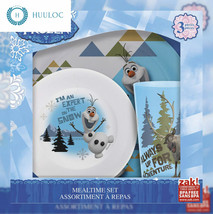 Zak! Designs Mealtime Set with Plate, Bowl and Tumbler featuring Olaf & ... - £12.56 GBP