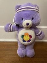 Care Bear Fit n Fun Harmony Bear 2004 Exercise Purple Talking Sings Plus... - $24.74