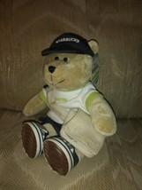 "Starbucks Boston Bearista Bear 10"" Plush Messenger Bag 2007 Teddy Stuffe... - $29.69"