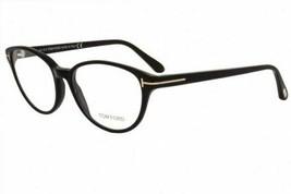 Tom Ford Women Optical Eyeglasses Frame Shiny Black Gold FT 5422 001 53mm - $138.59