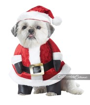 California Costumes Santa Paws Claus Navidad Vacaciones Disfraz PET20131 - $19.88