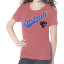 Girl's Large 10-12 NCAA DePaul University Original Retro Brand Tee Shirt T-Shirt