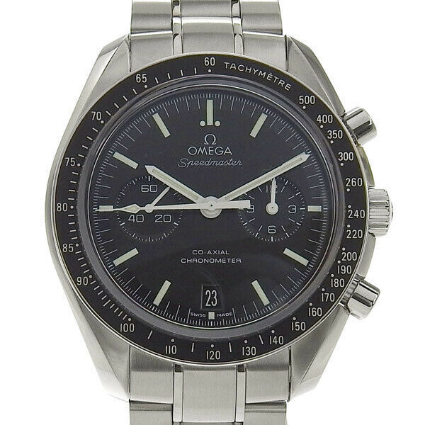 B this OMEGA Omega Speedmaster Co-Axial Mens Automatic watch behind schedule