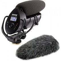Shure VP83F LensHopper Shotgun Microphone with Fur Windjammer A83-FUR - $465.89