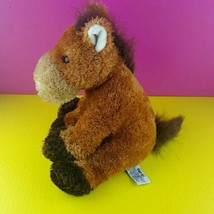 "Russ Berrie Plush Horse Garrick 12"" Stuffed Animal Pony Brown Sitting  - $18.80"