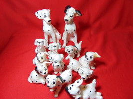 Walt Disney's, 101 Dalmations Figurines, Ma, Pa & 10 Puppies. WD Prod. J... - $24.99