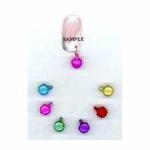 6 Colorful  Pastel  BELLS..Nail Art Dangles - $5.79