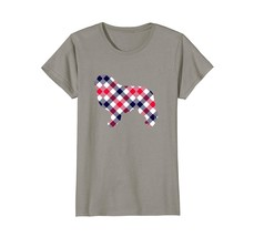 Great Pyrenees Plaid Dog Silhouette T-Shirt v1 - $19.99+
