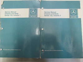 Mercedes Benz Series 123 Chassis & Body Service Manual 2 VOLUME SET Used... - $336.55