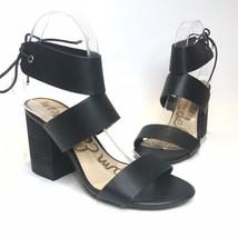 Sam Edelman Women's Size 7M Valerie Sandal Black Block HeelLace Closure - $31.78