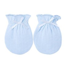 2-Packs Lovely Newborn/Infant NO-Scratching Cotton Mittens For 0-6M One Size