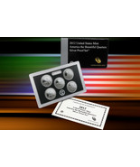 2012 U.S. MINT AMERICA THE BEAUTIFUL 5 COIN SILVER PROOF QUARTER SET W/COA - $43.80