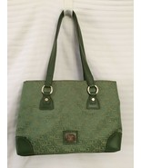 Lime Green Purse Liz Claiborne Handbag Heritage Mosaic NWT Tote - $32.62