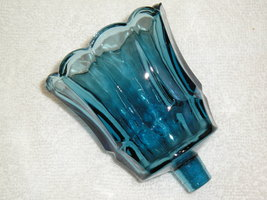 Blue Glass Peg Votive Candle Holder Sconce Cup Home Interiors Homco Star... - $8.99
