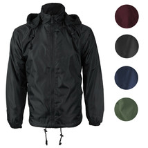 LAX Men's Premium Water Resistant Security Reversible Jacket With Removable Hood