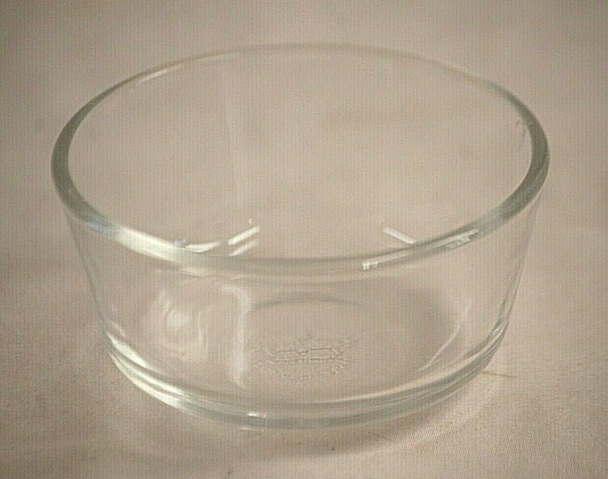 Primary image for Anchor Hocking Fire King Clear Glass Custard Cup Ramekin Vintage MCM USA