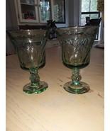 VTG Fostoria Jamestown Green Iced Tea Goblets  - $24.99