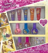 Disney Princess 34 Pieces Lip Gloss & Nail Polish Fruit Flavor Cosmetic Set - $12.19