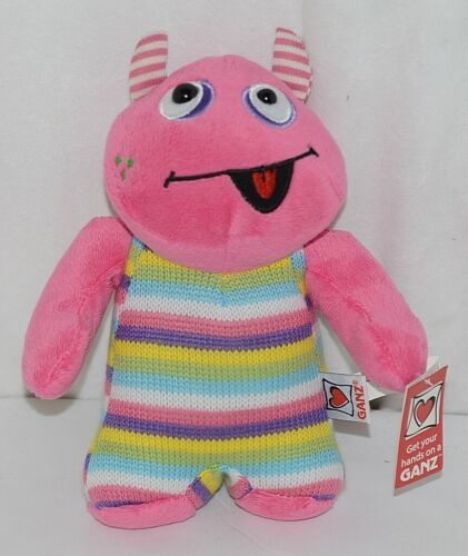 GANZ Brand H12598 Pink Multi color Striped Knit Wit Monster
