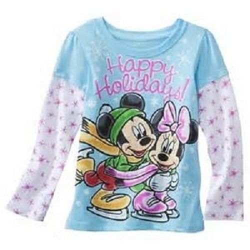 2T 5T NWT Disney Toddler Boys Long Sleeve T-Shirts Mickey or Wall-E Sizes 12M