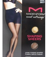 MAIDENFORM SWEET NOTHINGS SHAPING SHEERS SZ S NUDE FIRM CONTRL NATURAL W... - $6.99