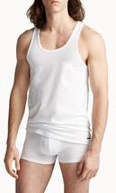 New Calvin Klein ID V-Neck Slim Fit White Tank Top Shirt Under Garment XL Cotton - $28.04