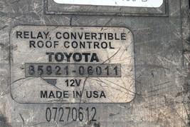 SOLARA RELAY CONVERTIBLE ROOF CONTROL TOYOTA 85921-06011 image 2