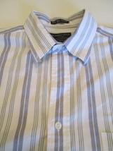 Abercrombie & Fitch Large Button Down Men's Shirt Casual Stripe Multi Color - $18.61