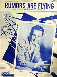 Primary image for Rumors Are Flying 1946 Sheet Music