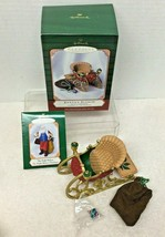 2001 Santas Sleigh w Mini Ornament Hallmark Christmas Tree Ornament MIB ... - $14.36