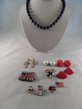 Vintage Necklace Brooches Earrings Jewelry Lot G4 - $8.90