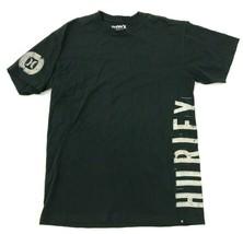 HURLEY Shirt Size Large L Adult Black Short Sleeve Graphic tee Men's Reg... - $17.83