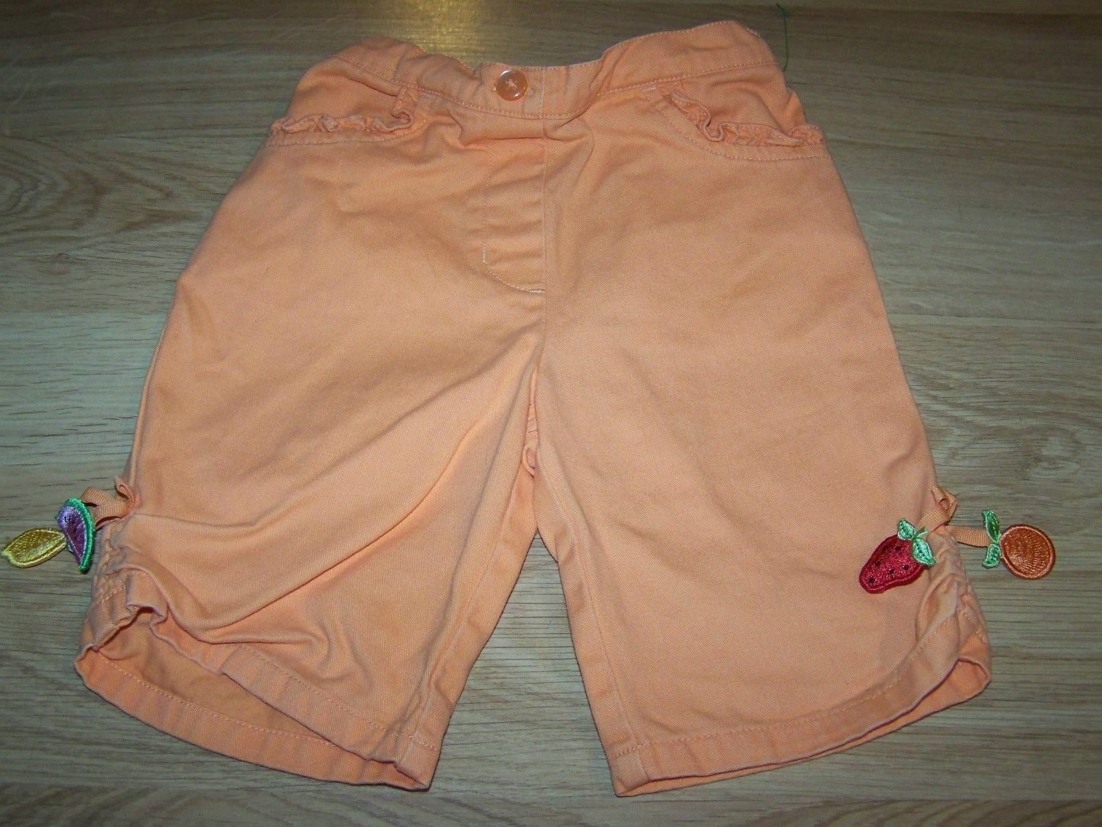 Primary image for Size 2T Gymboree Tutti Fruity Orange Capris Summer Pants Watermelon Strawberry