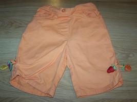 Size 2T Gymboree Tutti Fruity Orange Capris Summer Pants Watermelon Stra... - $10.00