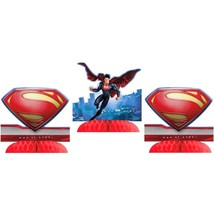 Superman Saves the Day 3 Mini Centerpieces Birthday Party Supplies NEW - $6.19