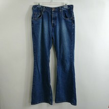 Silver Jeans Womens Flare Jeans 31x32.5 Mid Rise Medium Wash Blue Button... - $19.59