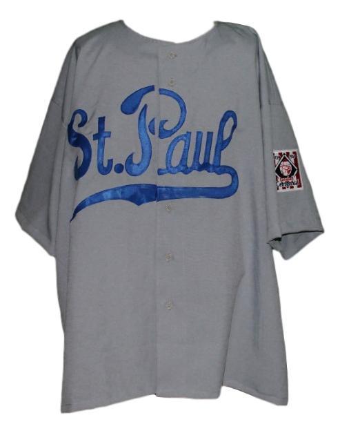 St paul  39 retro baseball jersey grey   1