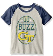 Cotton Willy NCAA Georgia Tech Go Buzz Children Boys Raglan Stripe Tee Large - $11.83