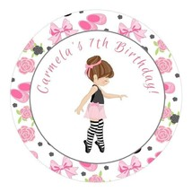 12 Personalized Ballerina Party Stickers favors labels birthday ballet D... - $8.99