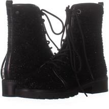 Stuart Weitzman All Good Lace-Up Combat Boots, Black 508, Black, 6 US - $193.91