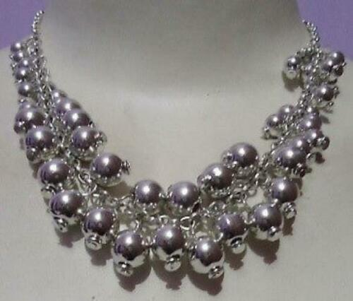 Silver Scattered Multi-Beaded Necklace-10 PIECES - $2.97
