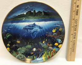 A Discovery Off Anahola Collectors Plate Danbury Mint Underwater Paradise Nelson - $12.86