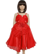 New Flower Girl Party Bridesmaid Pageant Dress in Pink,Red,White 2-3 to ... - $16.42